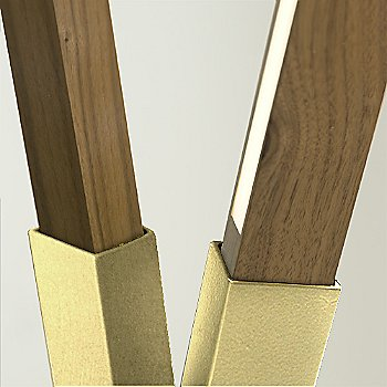 Polished Brass finish with Water Tower Redwood (Reclaimed)