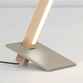 Brushed Nickel finish with Maple