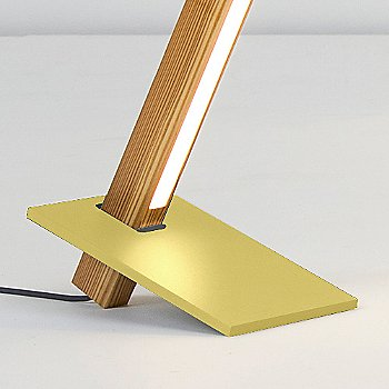 Polished Brass finish with Heart Pine