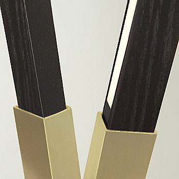 Brushed Brass finish with Ebonized Oak / Detail view