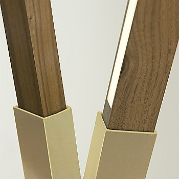 Brushed Brass finish with Walnut / Detail view