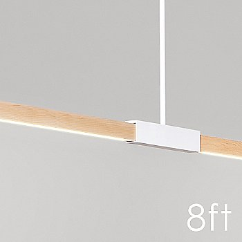 8 Foot LED Linear Suspension / Detail view