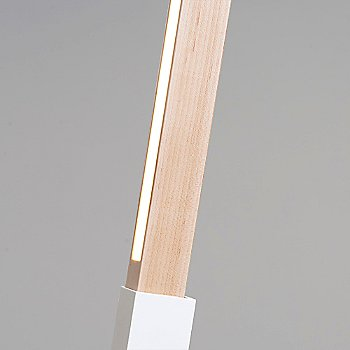 White finish with Maple / Detail view