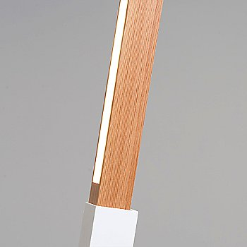 White finish with Heart Pine / Detail view