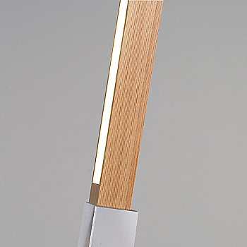 Polished Nickel finish with Heart Pine / Detail view