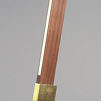 Polished Brass finish / American Walnut