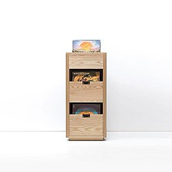 Dovetail Vinyl Storage Cabinet with Flip Top Bin