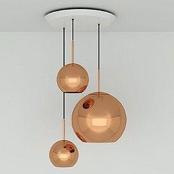Copper Trio Round Pendant Light System (Copper) - OPEN BOX RETURN