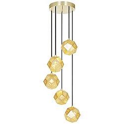Etch Mini Multi-Light Pendant (Brass) - OPEN BOX RETURN
