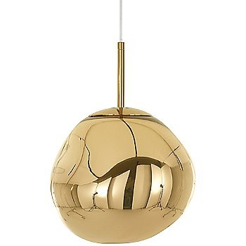 Shown unlit in Gold finish, Small size