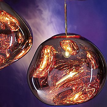 Shown lit in Copper finish, Large size