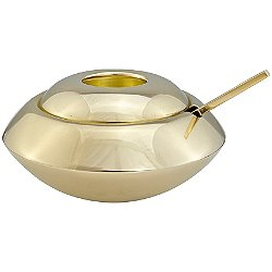 Form Sugar Dish and Spoon (Brass) - OPEN BOX RETURN