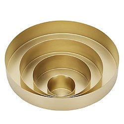 Orbit Nesting Trays Set, Brass Small