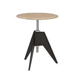 Screw Cafe Base Wood Top Table