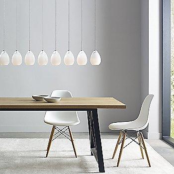 White shade / Satin Nickel finish / in use