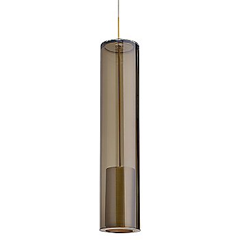 Shown in Transparent Smoke shade with Aged Brass finish
