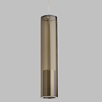 Shown in Transparent Smoke shade with Satin Nickel finish