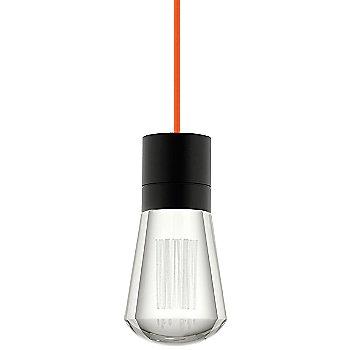 Shown in Black finish, Orange cord