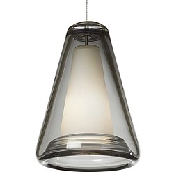 Billow Pendant Light (Smoke/Satin Nickel/Monorail) - OPEN BOX