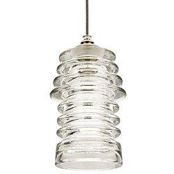 Watt Ribbed Glass Pendant Light