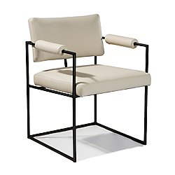 Design Classic Dining Chair with Padded Arms