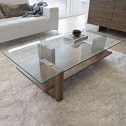 Zen Coffee Table, Walnut or Smoked Oak (Walnut) - OPEN BOX