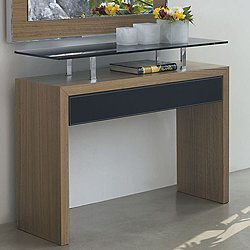 Ade Console Table, 35-In. Smoked Oak