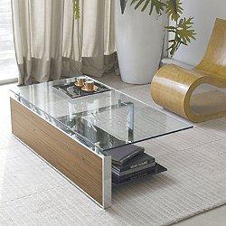 Fan Coffee Table, Walnut or Smoked Oak