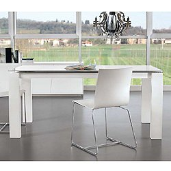 Montreal Extendable A Dining Table, Matte Lacquer