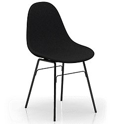 TA Upholstered Side Chair with Metal Legs