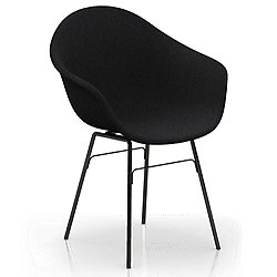 TA Upholstered Armchair with Metal Legs
