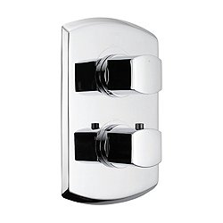 Soiree Thermostatic Mixing Valve Trim with Dual Volume Control