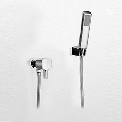 Soiree Wall-Mount Rectangular Handshower Set with Lever Handle