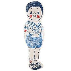 """Sailor Boy Sketch Pillow 16"""""""