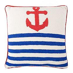 Anchor Crewel Pillow 18x18