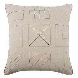 Flags Embroidered Pillow 22x22