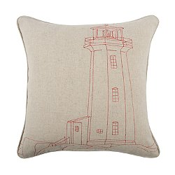 Lighthouse Embroidered Pillow 18x18