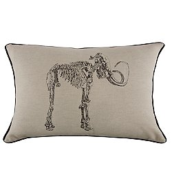 Mammoth Embroidered Pillow 12x20