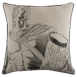 Roma Embroidered Pillow 22x22