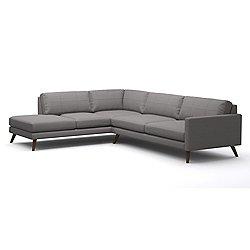 Dane MG Corner Sectional Sofa with Bumper