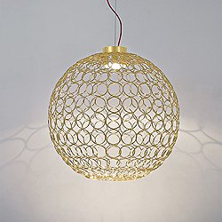 G.R.A. Round LED Pendant Light (Gold/Large)-OPEN BOX RETURN