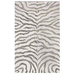 Hand Tufted Plush Zebra Rug