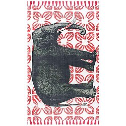 Thomas Paul Flat Weave Elephant Rug