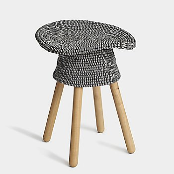 Shown in Grey Coiled Stool Low