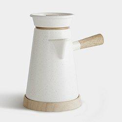 Cowboy Coffee Kettle & Trivet (White Cowboy) - OPEN BOX