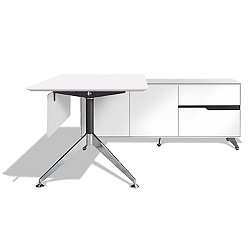 "400 Series 77"" Executive Desk With Cabinet"