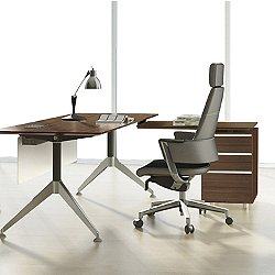 300 Series L Shaped Desk With File Cabinet