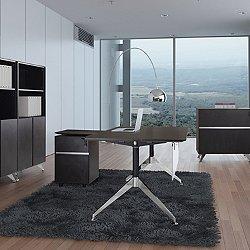 5 Piece L Shaped Desk Set