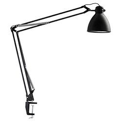 L-1 LED Task Light by Luxo(Desk Base/Wht/Blk/Clamp)-OPEN BOX