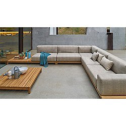 Barcode Sectional Sofa With Left Side Coffee Table